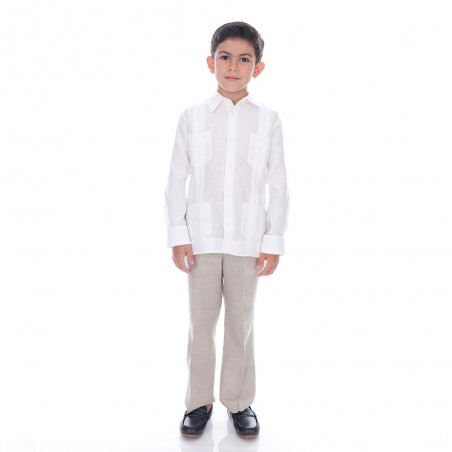 Traditional Guayabera Kid