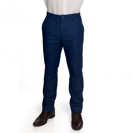 Blue Chino Slim Pants
