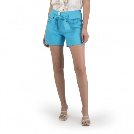 Bareh shorts, linen, with...